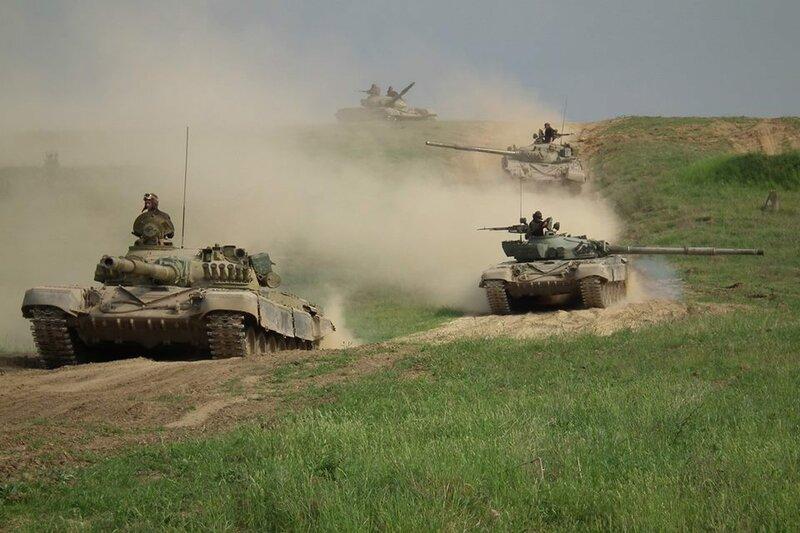На подмосковных полигонах начались боевые стрельбы танковой армии Западного округа