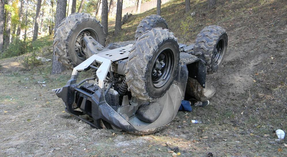 Два человека погибли при наезде квадроцикла на дерево в Дмитровском округе